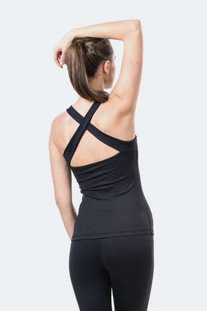 Ongasoft Yoga Tops-15003Black-Back