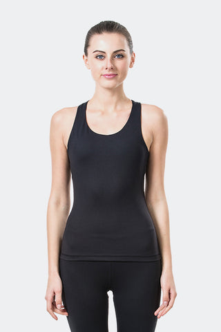 Ongasoft Yoga Tops-15003Black-Front