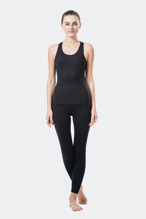 Ongasoft Yoga Tops-15003Black-Model