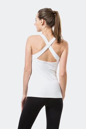 Ongasoft Yoga Tops-15003White-Back
