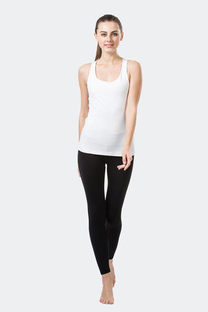 Ongasoft Yoga Tops-15003White-Model