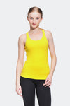 Ongasoft Yoga Tops-15003Yellow-Front