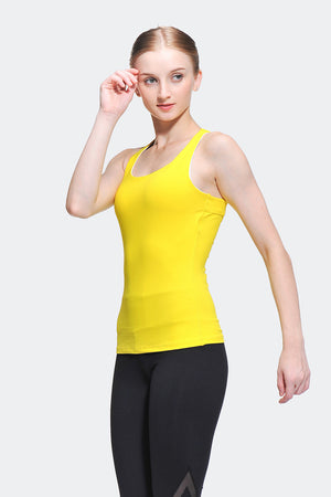 Ongasoft Yoga Tops-15003Yellow-Side