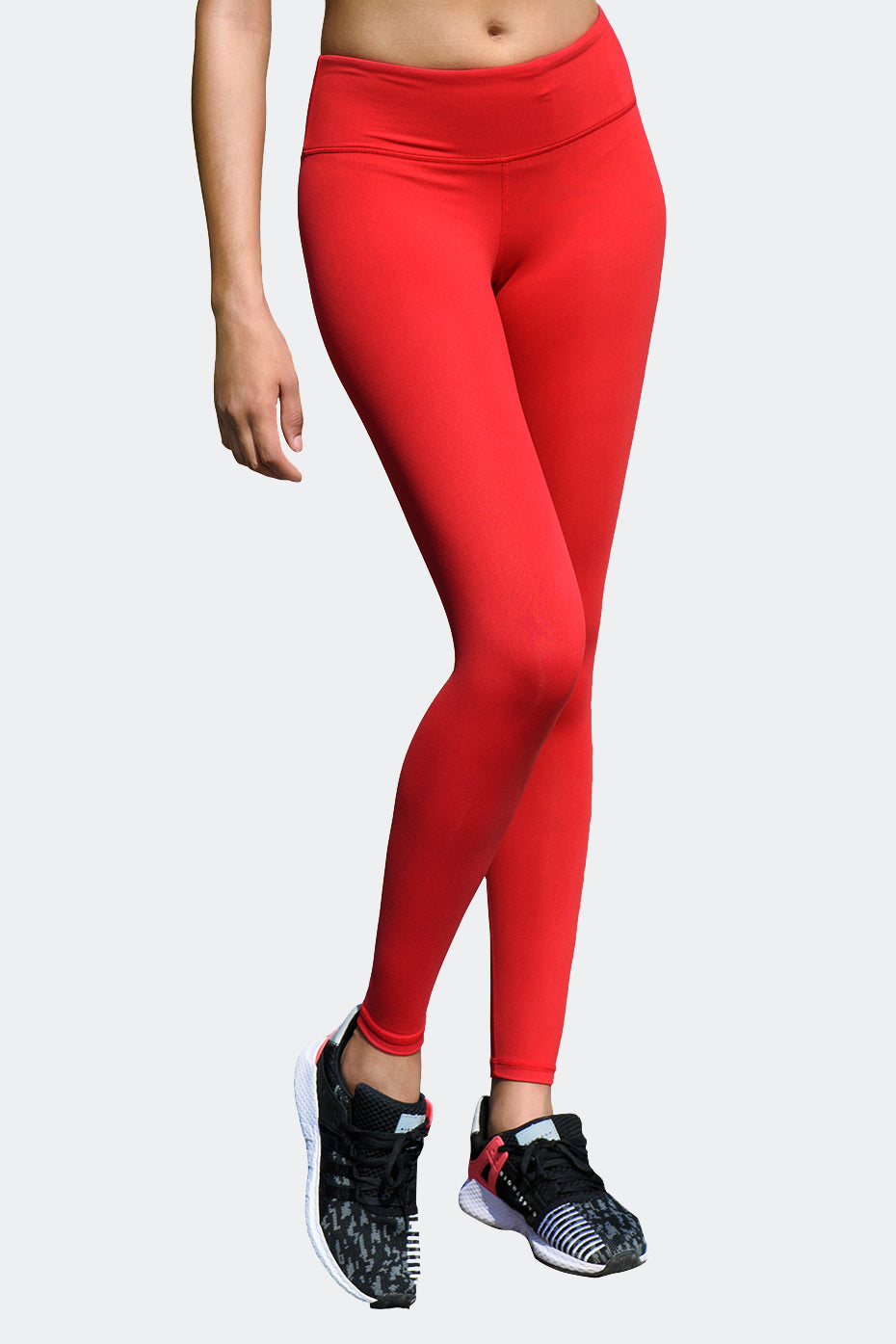 Ongasoft Yoga pants-9002Red-Front