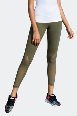 Ongasoft Yoga pants-K026Green-Front