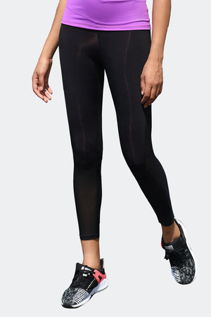 Ongasoft Yoga pants-K026Black-Front