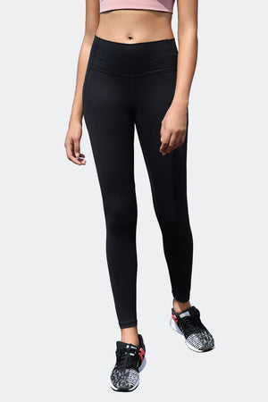Ongasoft Yoga pants-9002Black-Front