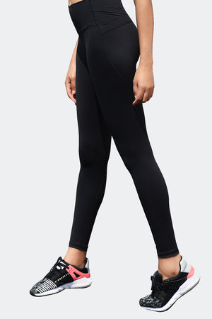 Ongasoft Yoga pants-9002Black-Side