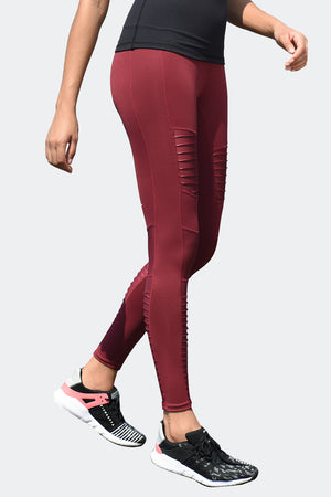 Ongasoft Yoga pants-K9006Red-Side