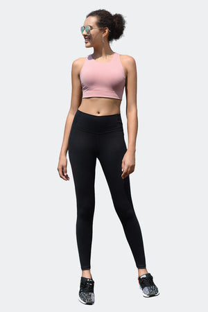 Ongasoft Yoga pants-9002Black-Model