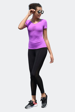 Ongasoft Yoga pants-K026Black-Model