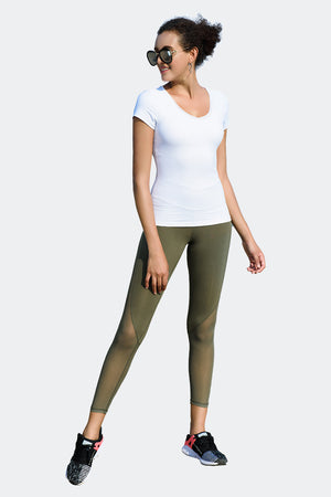 Ongasoft Yoga pants-K026Green-Model