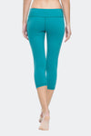 Ongasoft Yoga pants-9001BlueGreen-Back