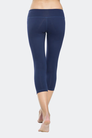 Ongasoft Yoga pants-9001DarkBlue-Back