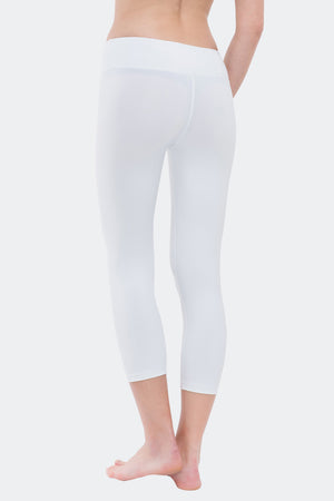 Ongasoft Yoga pants-9001White-Back
