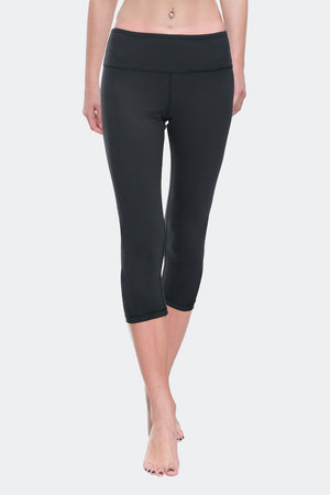 Ongasoft Yoga pants-9001Black-Front