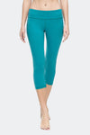 Ongasoft Yoga pants-9001BlueGreen-Front
