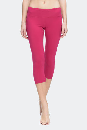 Ongasoft Yoga pants-9001Red-Front