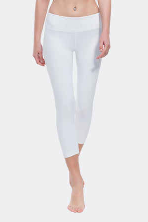 Ongasoft Yoga pants-9001White-Front