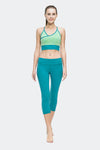 Ongasoft Yoga pants-9001BlueGreen-Model