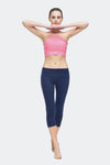 Ongasoft Yoga pants-9001DarkBlue-Model
