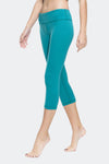 Ongasoft Yoga pants-9001BlueGreen-Side