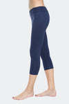 Ongasoft Yoga pants-9001DarkBlue-Side