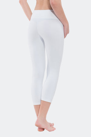 Ongasoft Yoga pants-9001White-Side