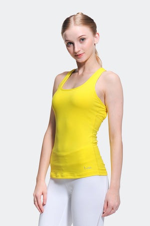Ongasoft Yoga Tops-B006Yellow-Front