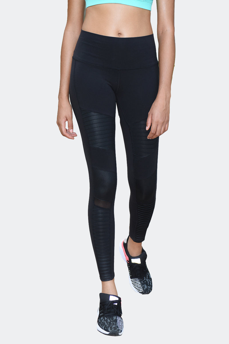 Ongasoft Yoga pants-K9006Black-Front