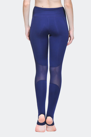 Ongasoft Yoga Pants-K0009Blue-Back
