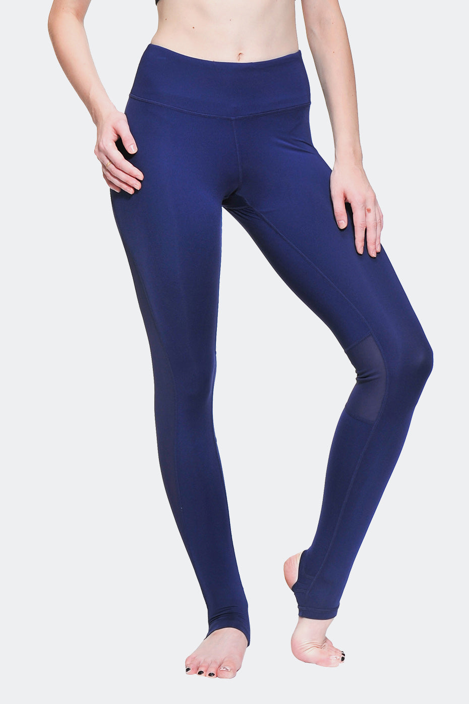Ongasoft Yoga Pants-K0009Blue-Front