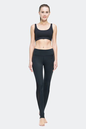 Ongasoft Yoga Pants-K0009Black-Model