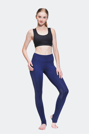 Ongasoft Yoga Pants-K0009Blue-Model