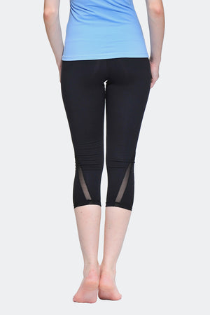 Ongasoft Yoga pants-K016Black-Back