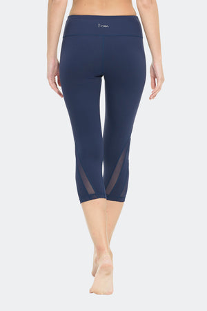 Ongasoft Yoga pants-K016Blue-Back