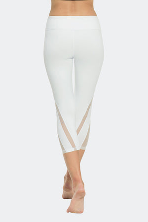 Ongasoft Yoga pants-K016White-Back