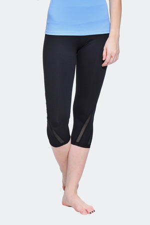 Ongasoft Yoga pants-K016Black-Front