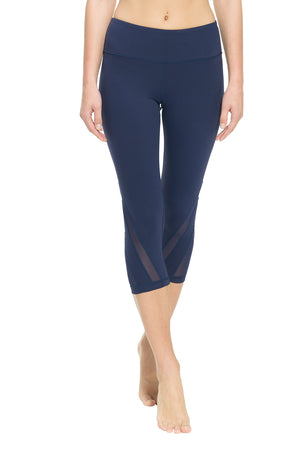 Ongasoft Yoga pants-K016Blue-Front