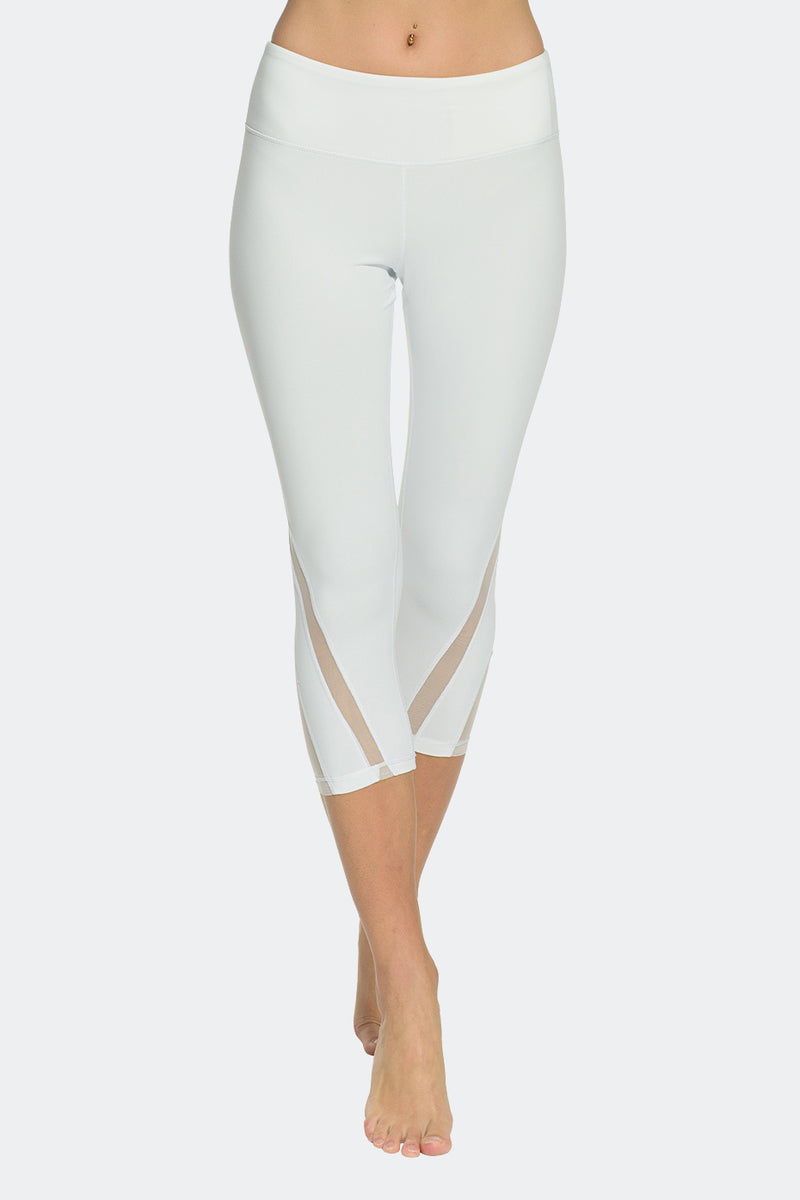 Ongasoft Yoga pants-K016White-Front