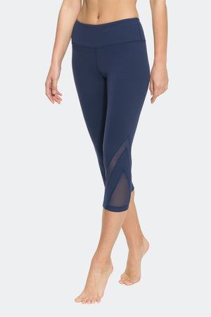 Ongasoft Yoga pants-K016Blue-Side