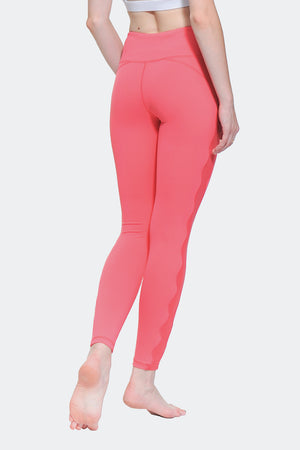 Ongasoft Yoga pants-K017Red-Back
