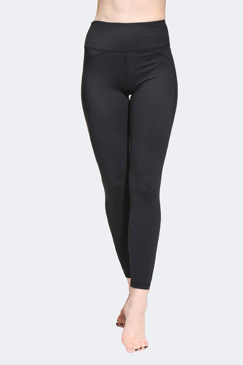 Ongasoft Yoga pants-K017Black-Front