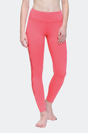 Ongasoft Yoga pants-K017Red-Front