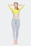 Ongasoft Yoga pants-K017Grey-Model