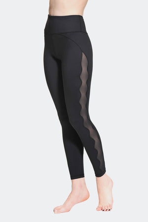 Ongasoft Yoga pants-K017Black-Side