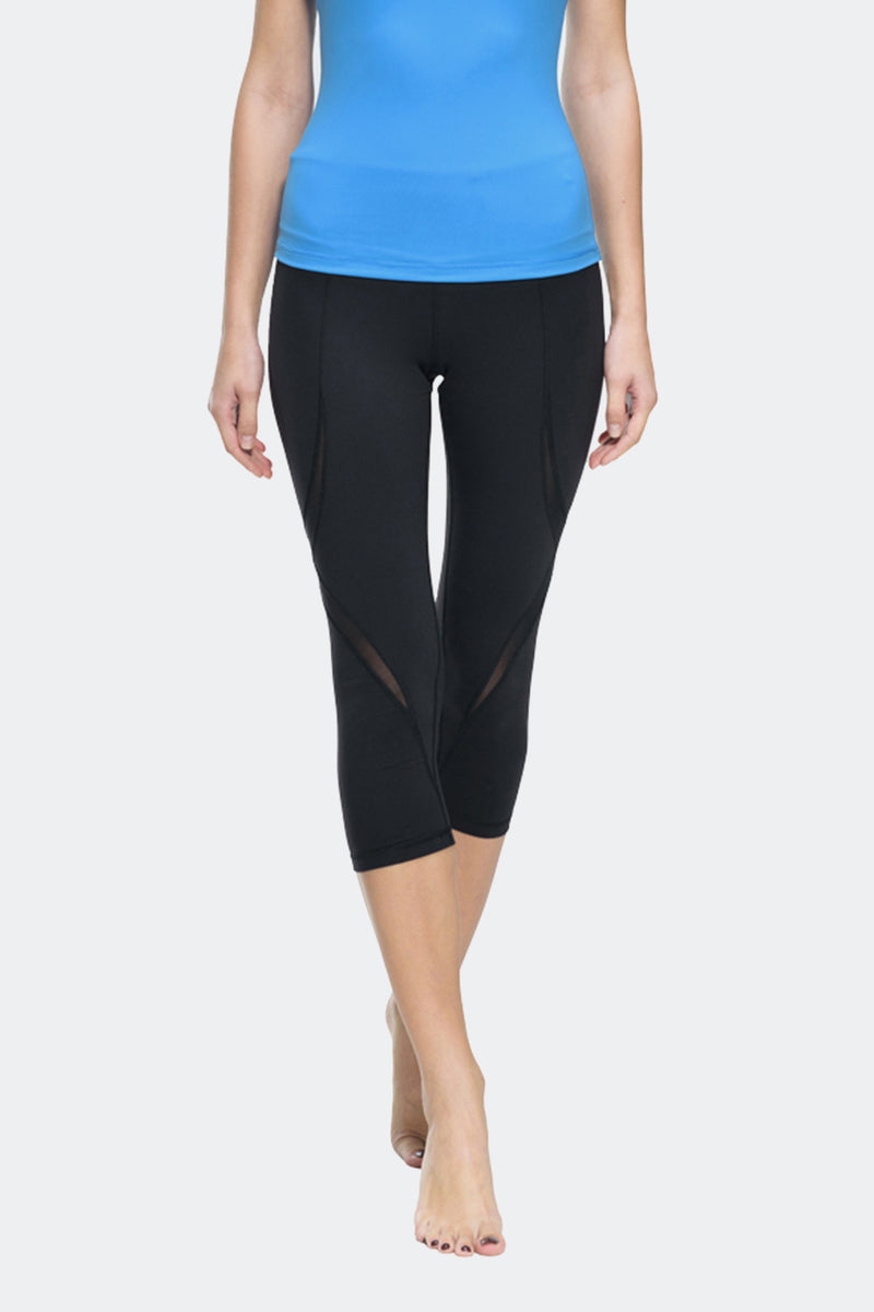 Ongasoft Yoga pants-K019Black-Front
