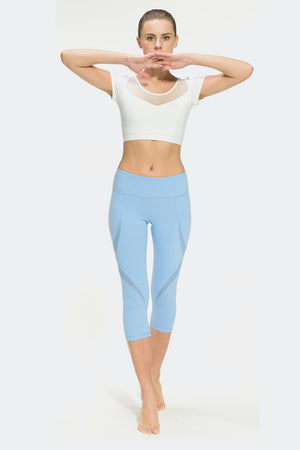 Ongasoft Yoga pants-K019Blue-Model