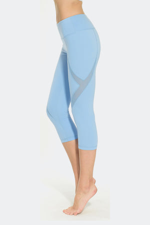 Ongasoft Yoga pants-K019Blue-Side