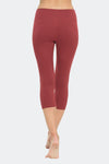 Ongasoft Yoga pants-K7-002Red-Back